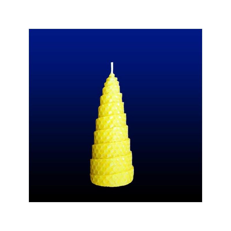 5x13cm de torsadées en bougies naturelles Lot 4 cire d'abeille 5 SzUqMVp