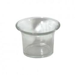 Bougeoir photophore évasé en verre pour bougie