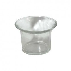 Flared glass pot for tealight candles