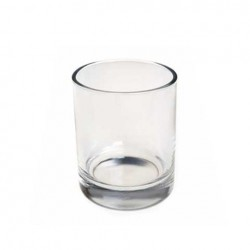 Candle holder small glass pot