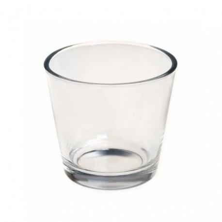 Bougeoir photophore en verre pour bougie en cire d'abeille