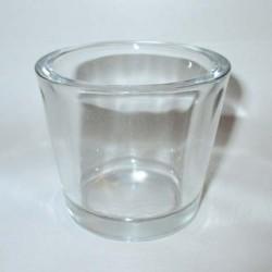 Bougeoir photophore en verre épais