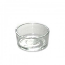 Small glass pot for tealight