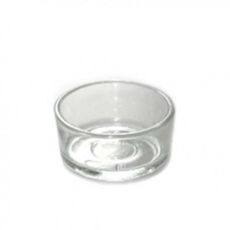 Support en verre pour bougie chauffe-plat en cire d'abeille