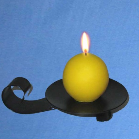 Beeswax candle rounded - 5cm