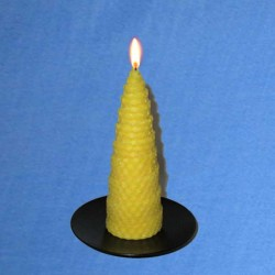 Twisted beeswax candle 4,5x13cm