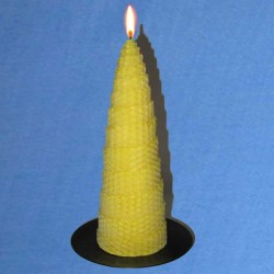 Twisted beeswax candles 5,5x20cm