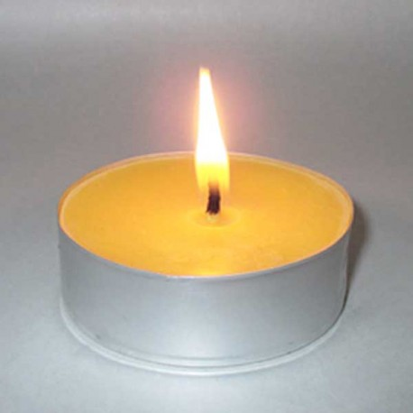 Giant beeswax tealight candle