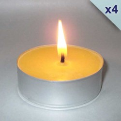 4 giant beeswax tealight candles