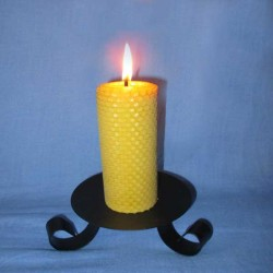 Beeswax sheet comb pillar candle 4,5x13cm