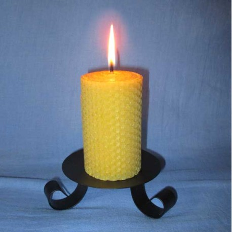 Beeswax sheet comb pillar candle 5,5x13cm