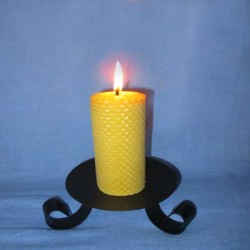 Beeswax sheet comb pillar candle 4,5x10cm