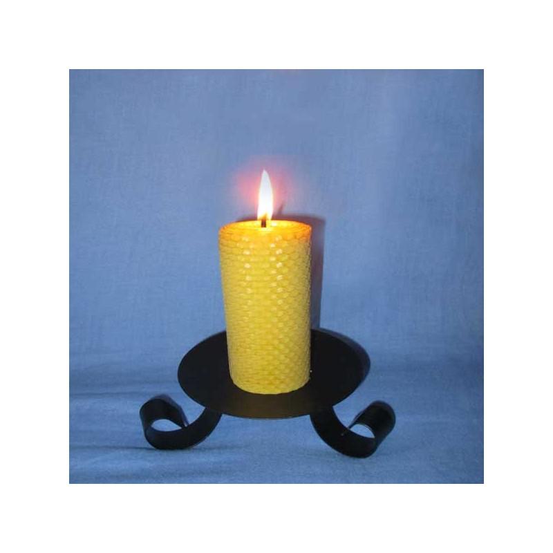 bougie en cire d 39 abeille pilier gaufr 4 5x10cm l 39 alchimie des bougies. Black Bedroom Furniture Sets. Home Design Ideas