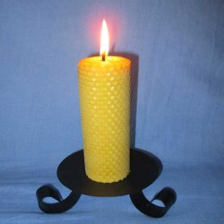 Beeswax sheet comb pillar candle 4,5x20cm