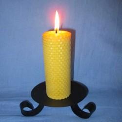 Beeswax sheet comb pillar candle 4,5x20cm