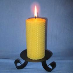 Beeswax sheet comb pillar candle 5,5x20cm