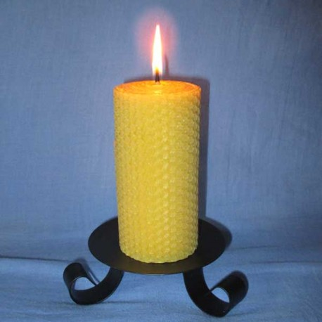 Beeswax sheet comb pillar candle 5,5x20cm
