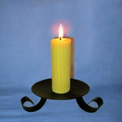 Beeswax sheet comb pillar candle 3x13cm