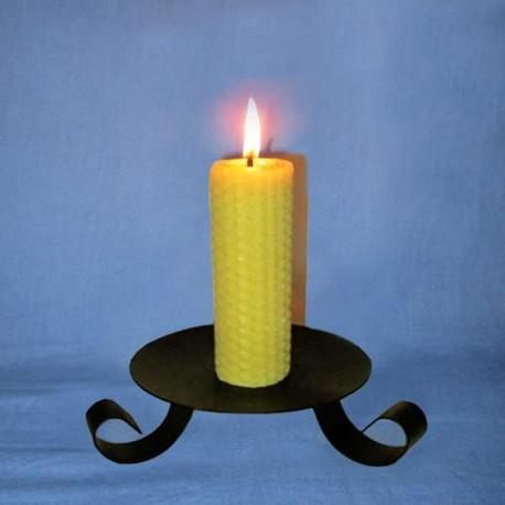 Beeswax sheet comb pillar candle 3x13cm