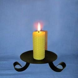 Beeswax sheet comb pillar candle 3,5x10cm
