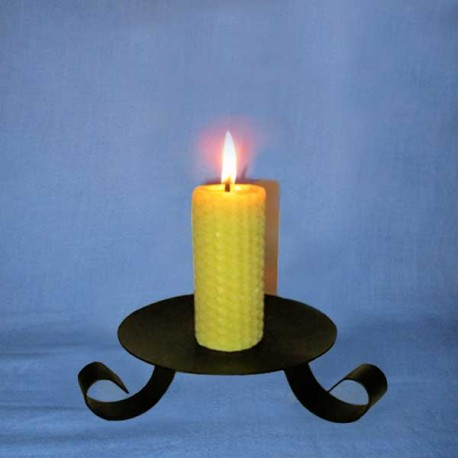 Beeswax sheet comb pillar candle 3,5x10cm