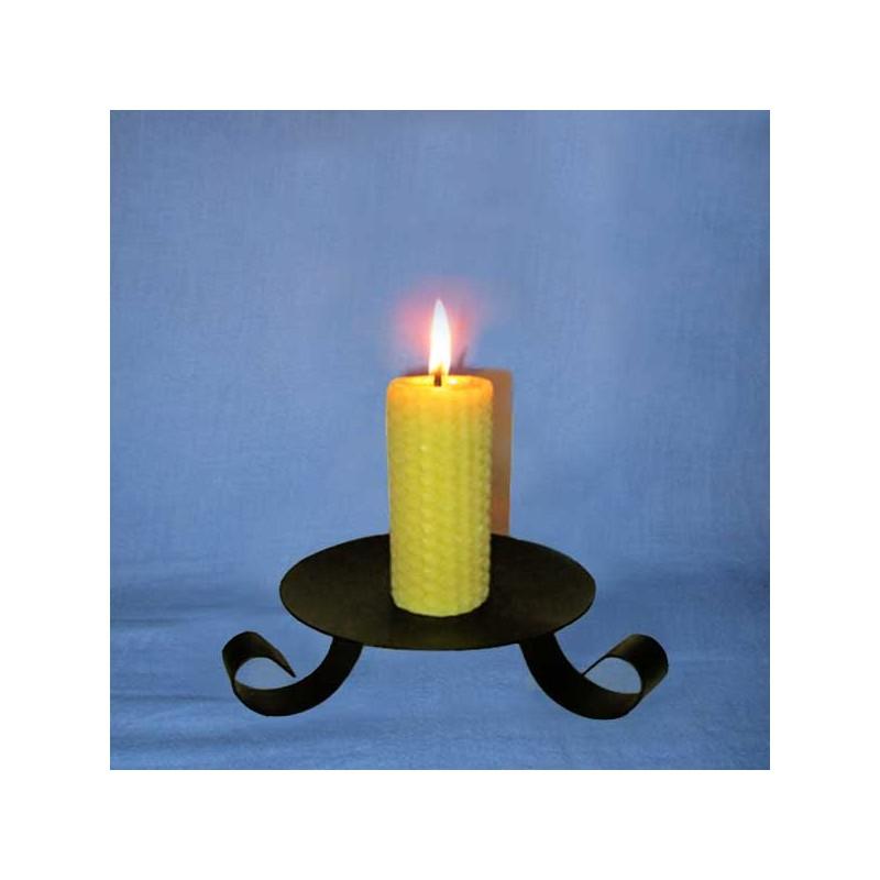 bougie en cire d 39 abeille pilier gaufr 3 5x10cm l 39 alchimie des bougies. Black Bedroom Furniture Sets. Home Design Ideas