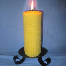 Beeswax sheet comb pillar candle 5,5x26cm