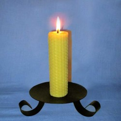 Beeswax sheet comb pillar candle 3,5x20cm