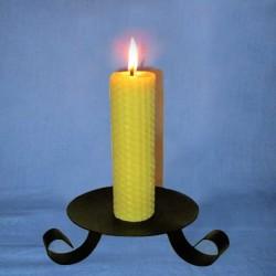 Beeswax sheet comb pillar candle 3,5x20cm