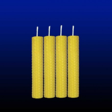 4 beeswax tall candles 2x13cm