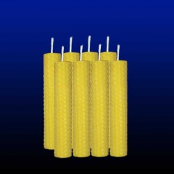 8 beeswax tall candles 2x13cm