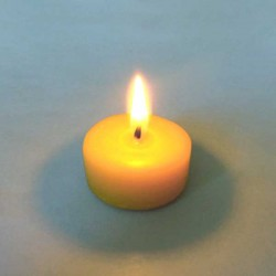 Beeswax tealight candle without small pot
