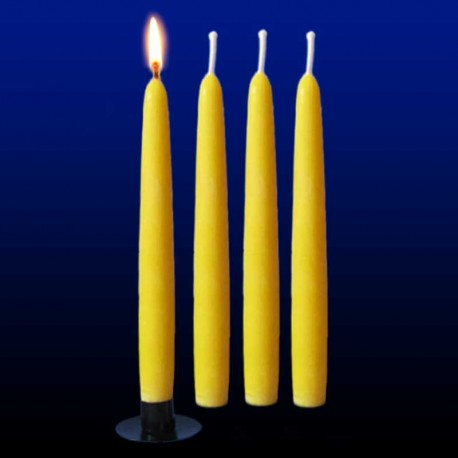 4 tall beeswax candles