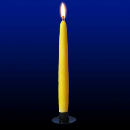 Tall beeswax candle