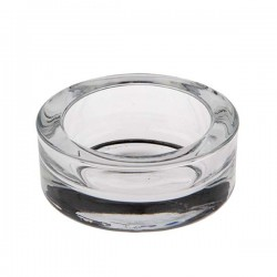 Small glass cup for candles