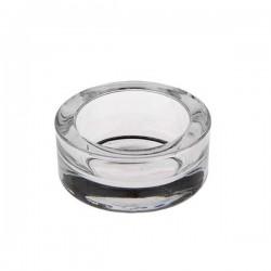 Petit bougeoir en verre rond pour chauffe-plats ou petites bougies en cire d'abeille