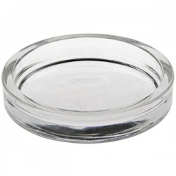 Large round glass cup