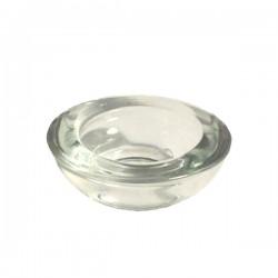Bougeoir photophore en verre pour bougie chauffe-plat