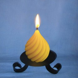 Beeswax candle twisted