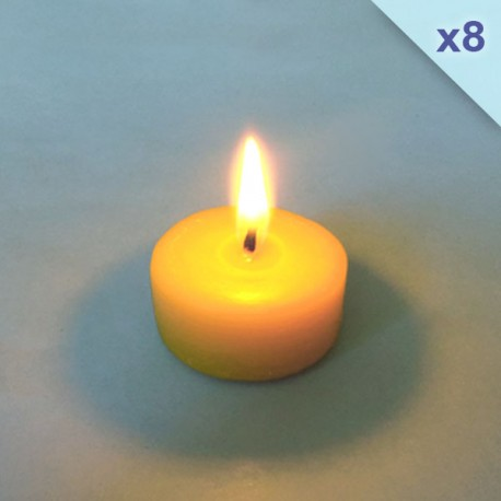 8 Beeswax tealight candle refills