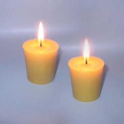 2 petites bougies naturelles en cire d'abeille