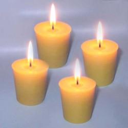 4 petites bougies naturelles en cire d'abeille