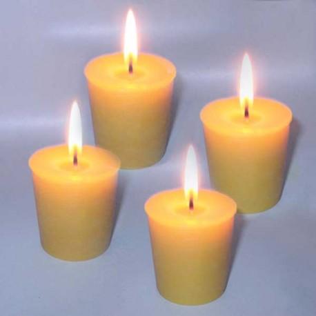4 bougies naturelles en cire d'abeille - Votives