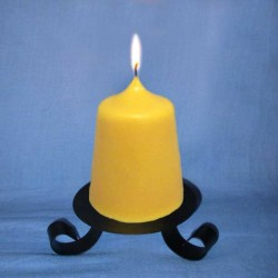 Beeswax candle conical