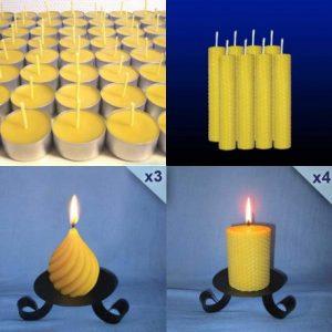 lot-assortiment-bougies-cire-abeille-2