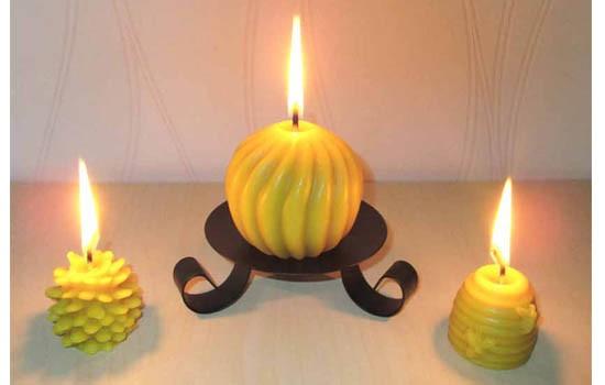 nouvelles bougies cire d'abeilles
