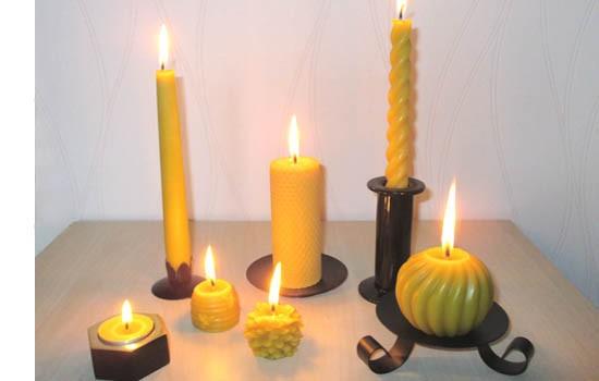 bougies cire d'abeilles